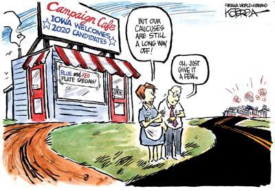 Editorial cartoon: Iowa welcomes 2020 candidates