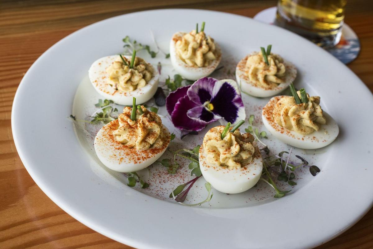 What's cooking?: Buoy Beer's Habeñero Smoked Oyster Deviled Eggs