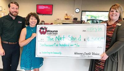 Wauna Federal Credit Union raises $6,500 for Astoria Net Shed