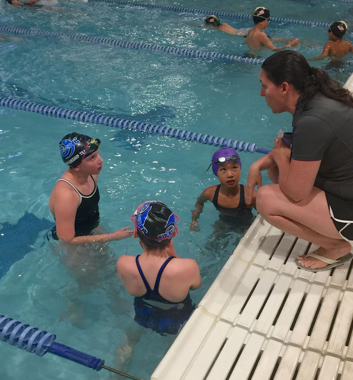 Swimmers beat the heat at Aquatic Center