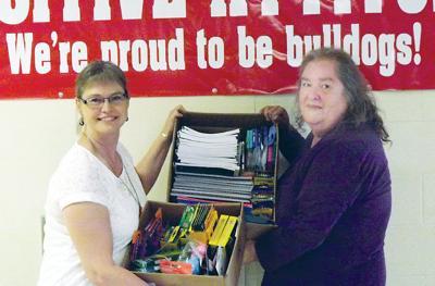 Svensen seniors donate school supplies