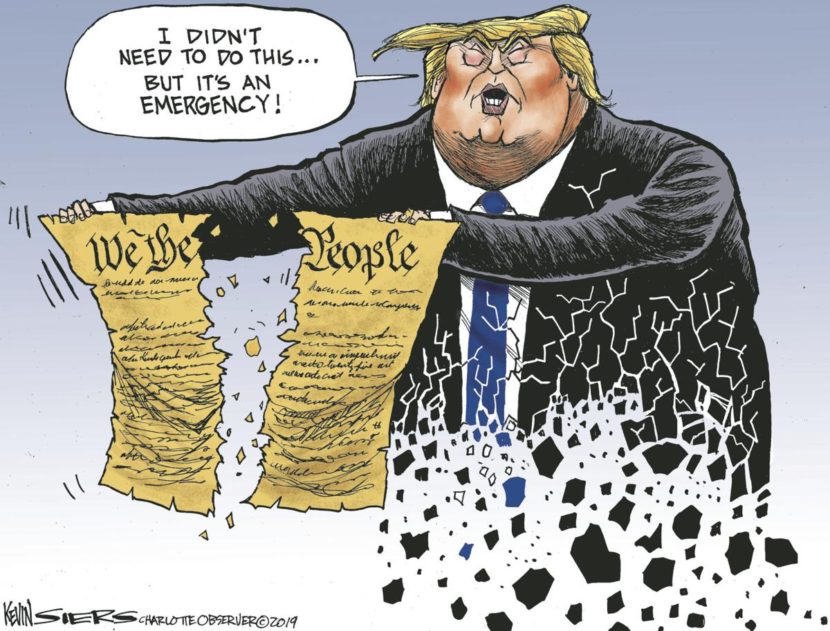 Editorial Cartoon Trump National Emergency Opinion Dailyastorian Com