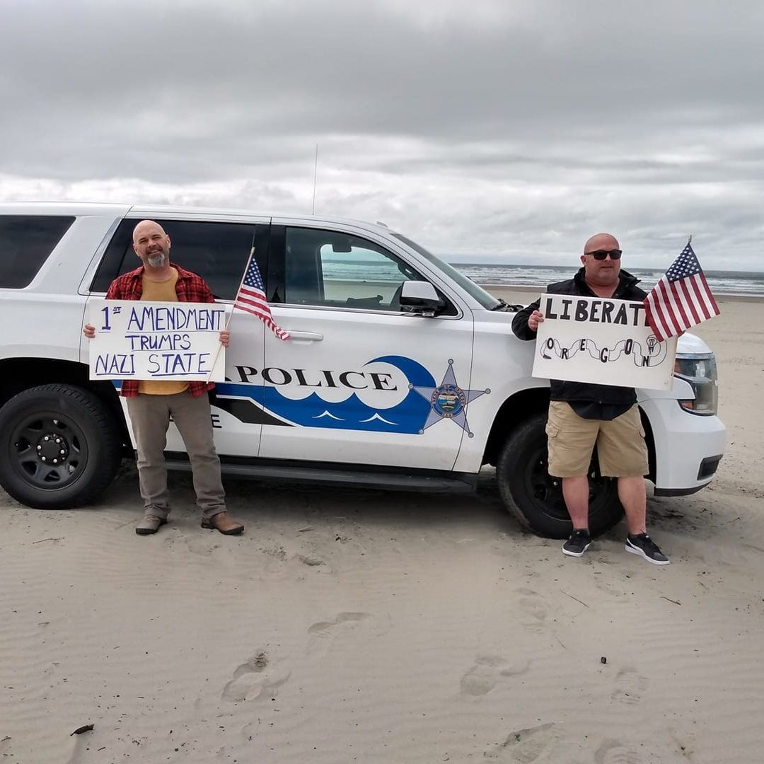Seaside protest