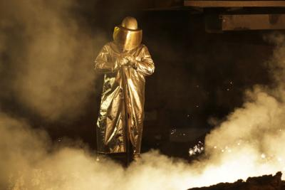 A steel worker in Germany