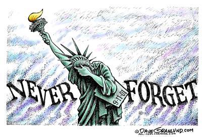 Editorial cartoon: 9-11 never forget