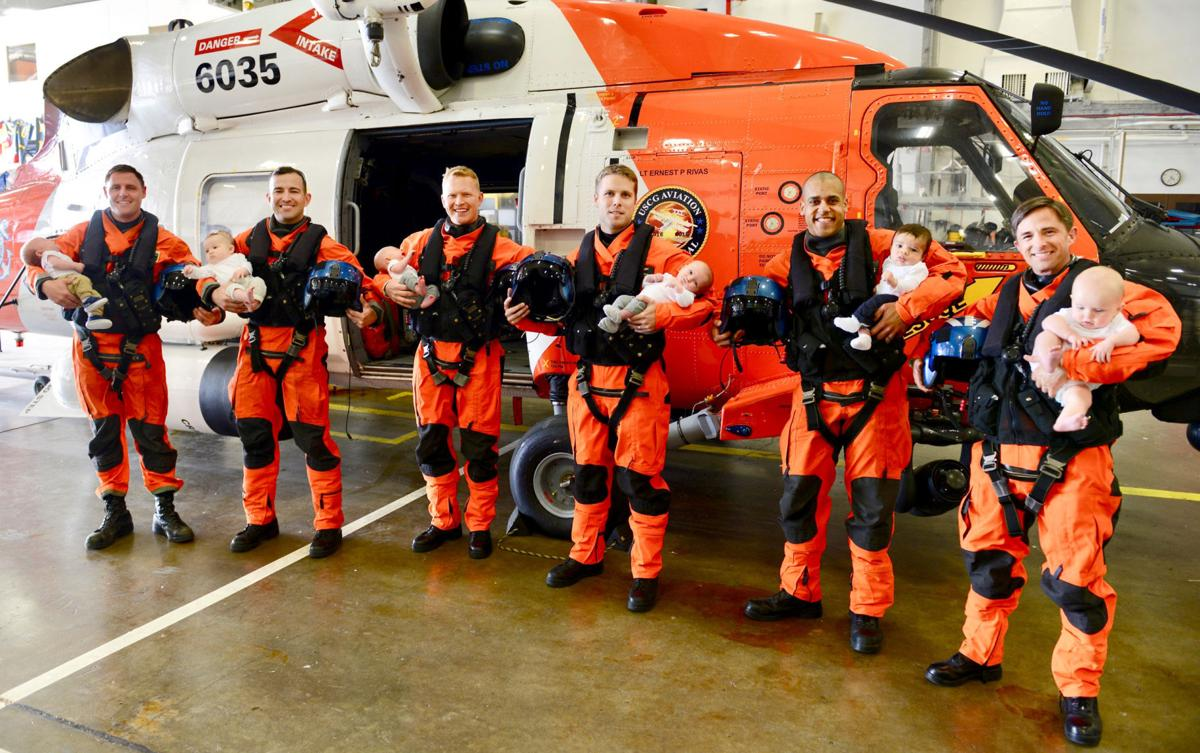 Baby boom Coast Guard pilot families bring bevy of babies aboard