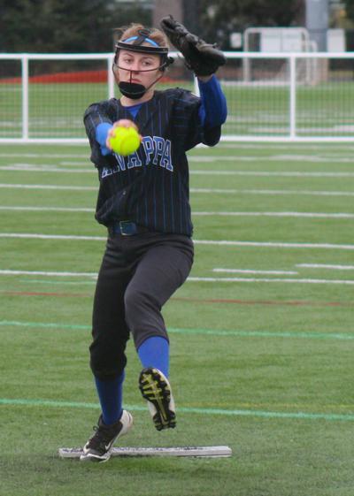 Knappa pitcher Madelynn Weaver