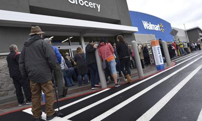 Customers line up for new Walmart in Warrenton