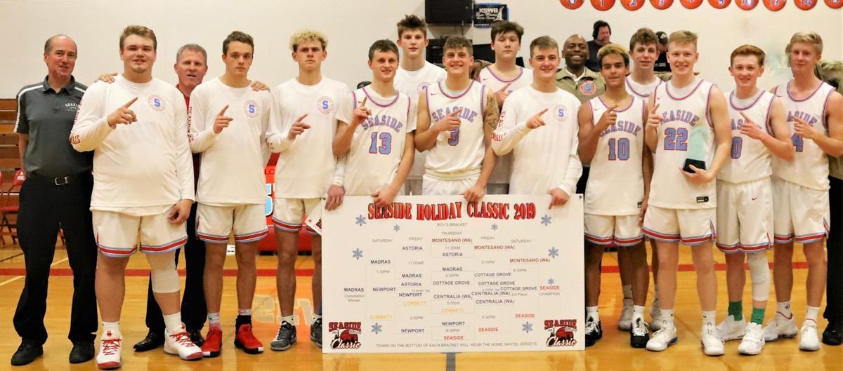 Seaside boys basketball team