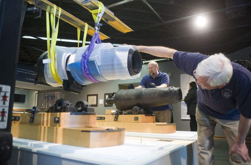 Cannons from USS Shark to be displayed