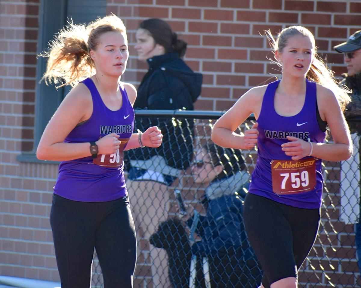 Warrenton runners Kaisa Liljenwall, Abigail Miller