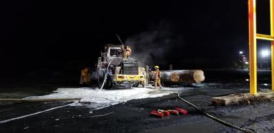 Fire at Hampton Lumber