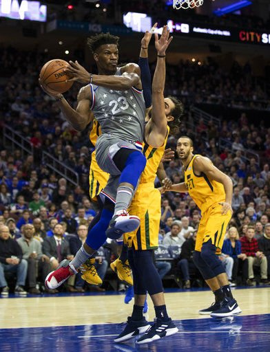 Butler, Embiid lead Sixers past Jazz 113-107