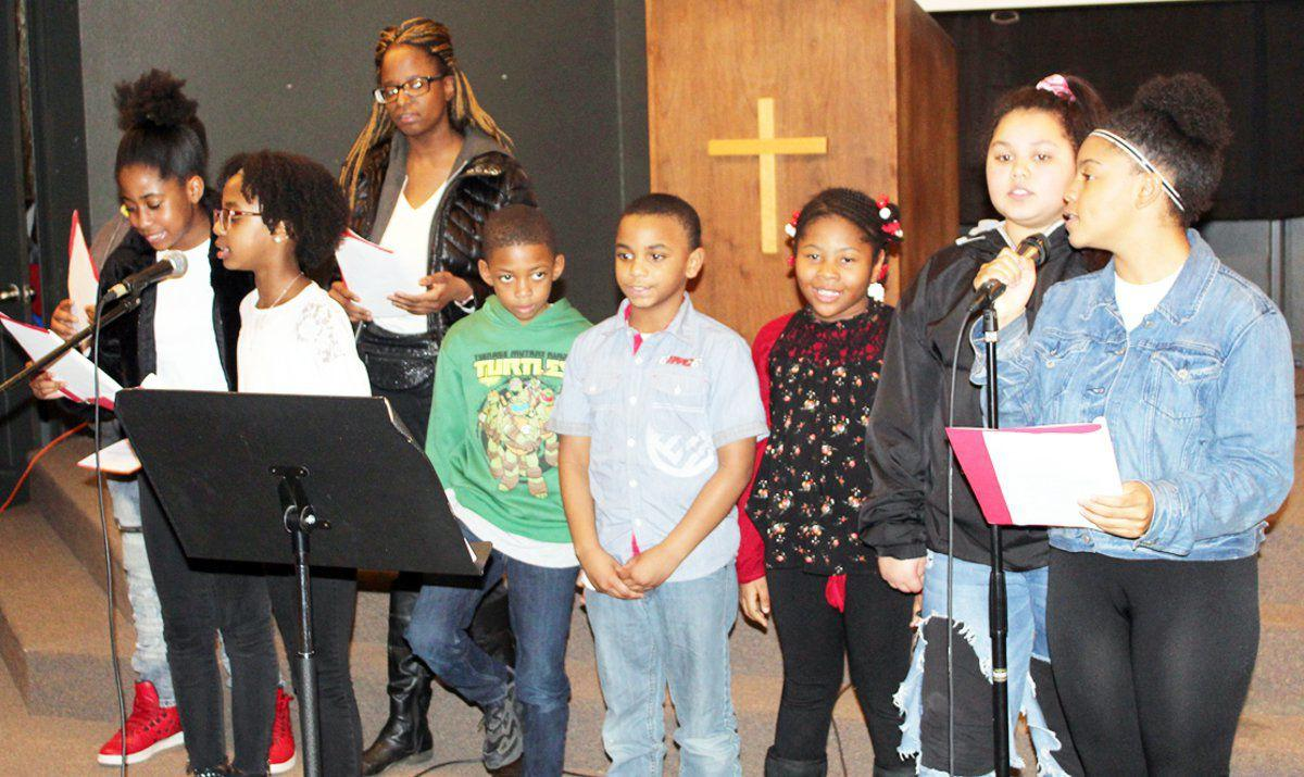 Students celebrating Black History Month