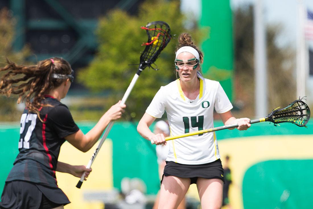 Photos: Oregon women's lacrosse falls to Stanford 14-2
