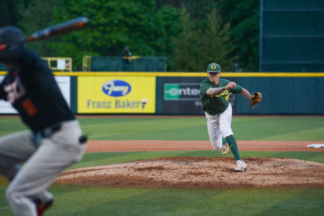 Photos: The Oregon Ducks fall 6-1 in the first game of Civil War Series