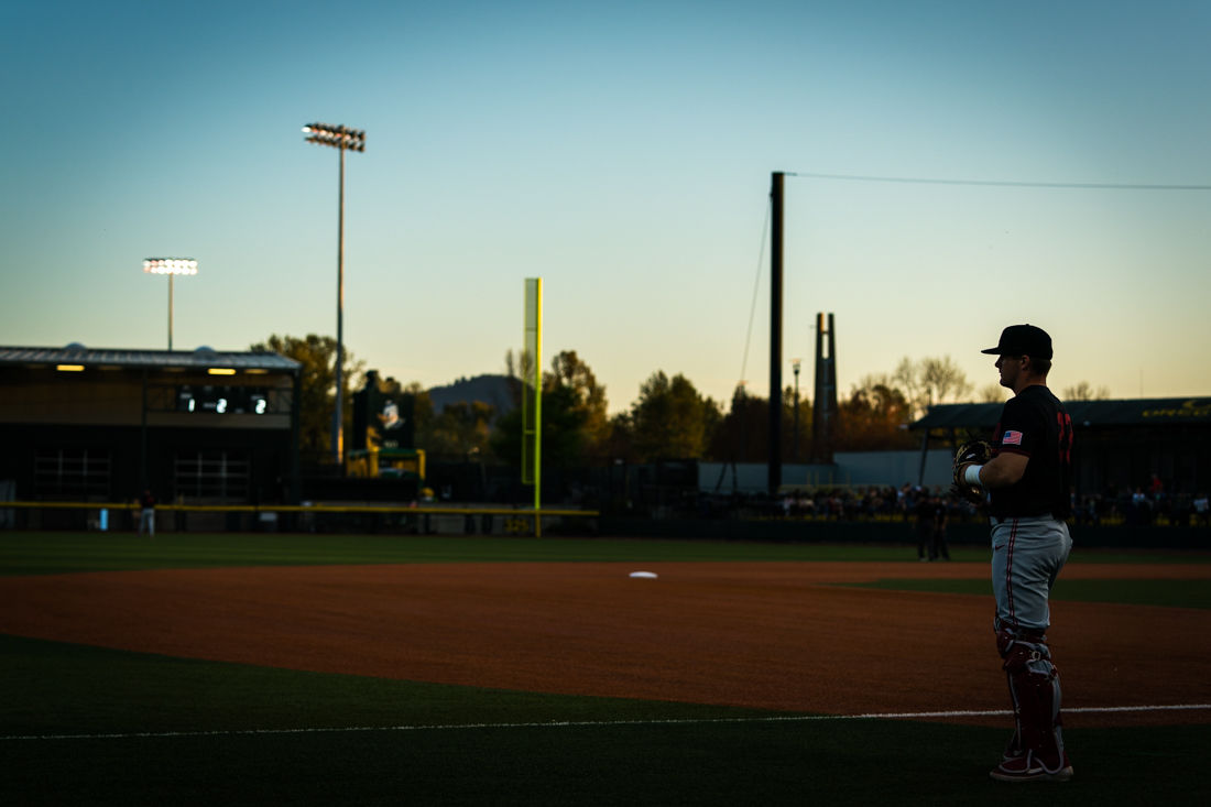 Photos: Ducks baseball falls by one to Stanford in series opener 4-5