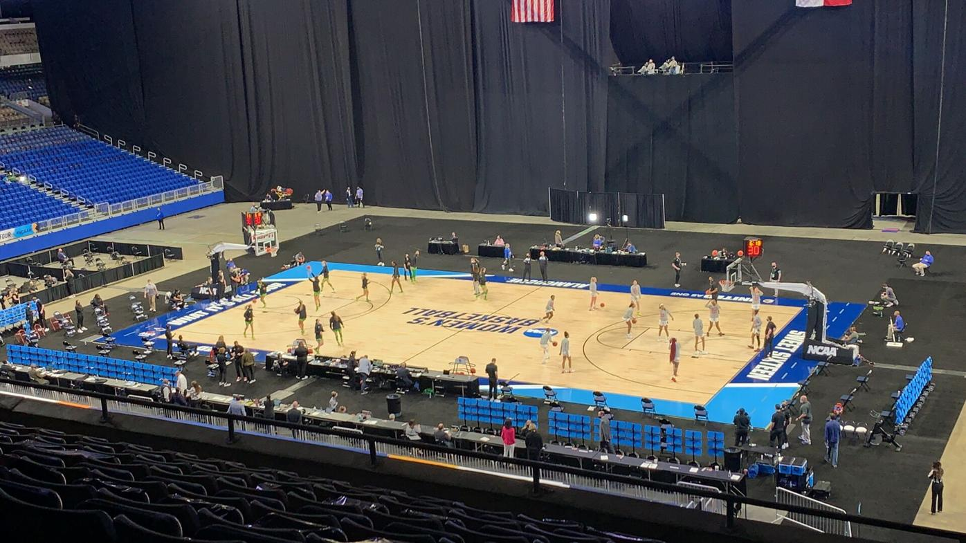 My experience reporting at the NCAA Women's Tournament amid COVID-19