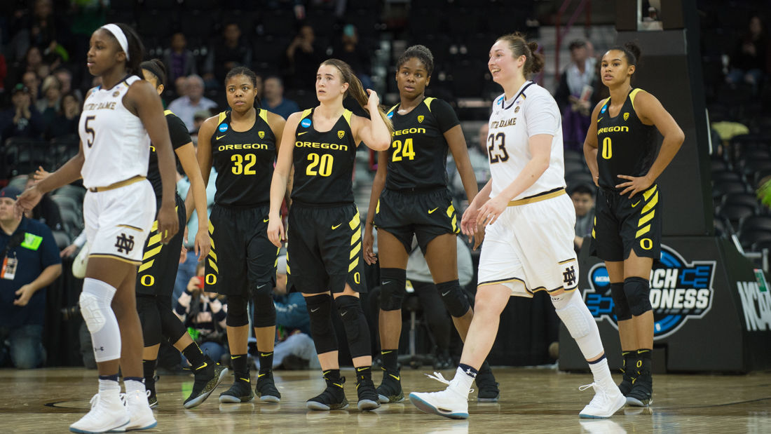 Photos: The Oregon Ducks fall to Notre Dame 84-74 in the Elite Eight