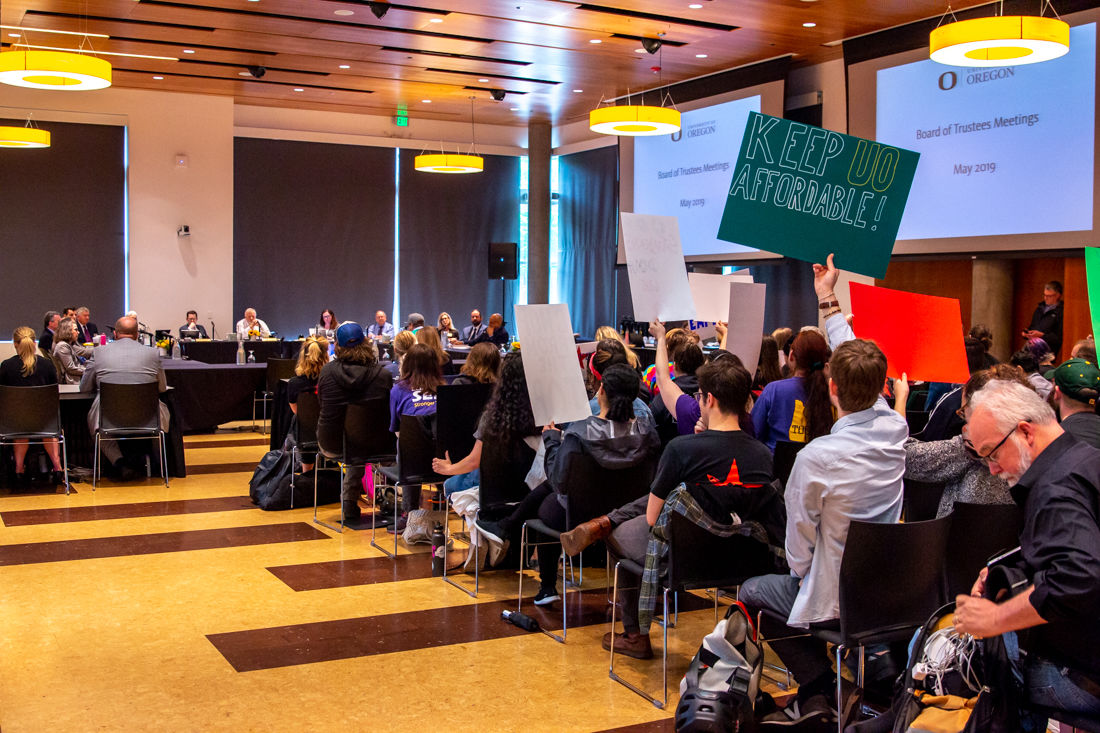Breaking: Trustees approve range of resident tuition increases amid protests