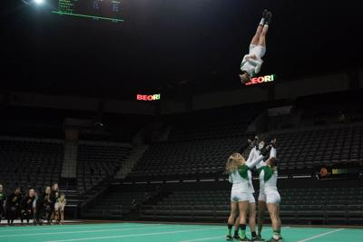 Oregon acrobatics and tumbling's perfect record ends at Baylor