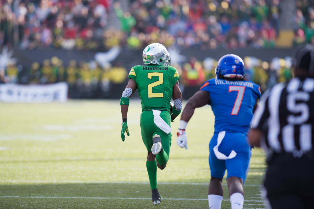 PHOTOS: Ducks attempt to return from 24 point deficit during Las Vegas Bowl (14-24)