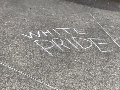 'White Pride' chalk graffiti spotted on campus