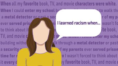 I learned racism when illustration
