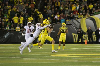 After a year at the position, Brenden Schooler could lead Oregon's young wide receivers this fall