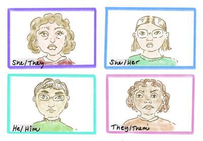 Pronouns Illustration