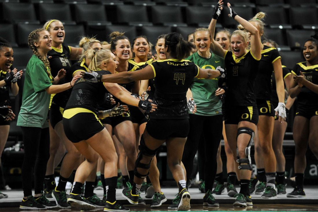 Photos: Oregon Ducks Acro and Tumble team falls to the Baylor Bears 282.025-280.180