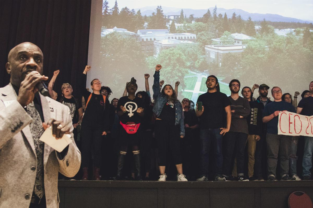 Student collective's resolution denouncing white supremacy is being revised by senate, administration and members of the collective