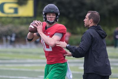 Photos: The Oregon Ducks hold spring football practice 4/17