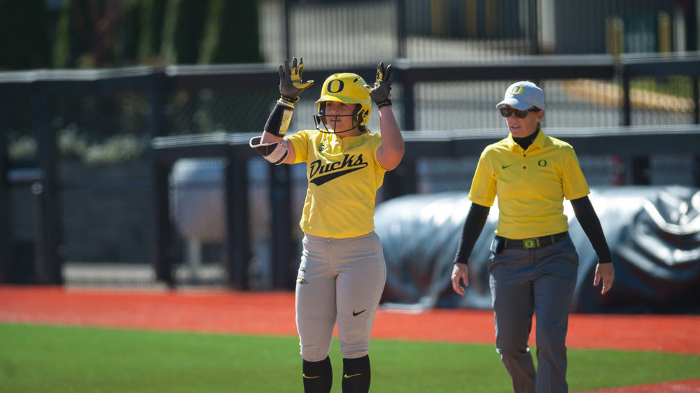 Photos: Oregon Softball shuts out University of Montana again with a 7-0 win