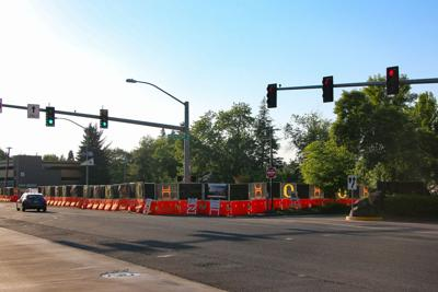 Construction on Franklin Boulevard means a year of traffic near campus