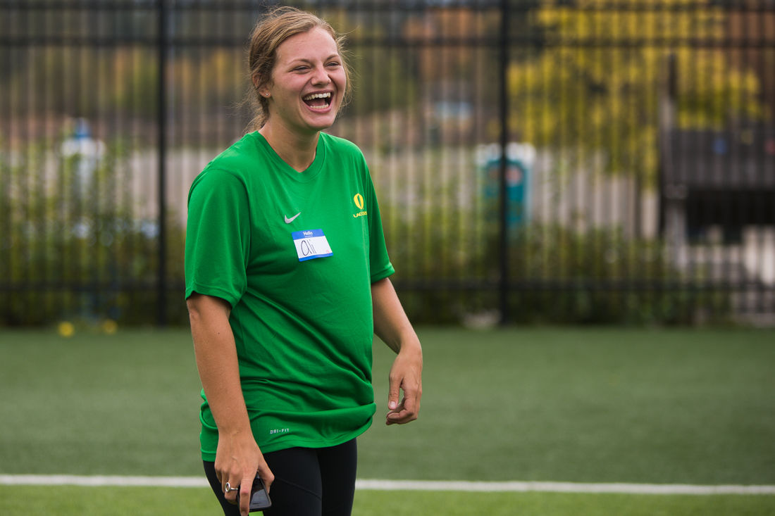 Alison Scharkey's busy career involved in Oregon athletics nears its conclusion