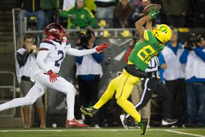 Oregon wide receivers are back in business