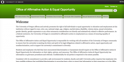 Months late, Office of Affirmative Action and Equal Opportunity website update in progress