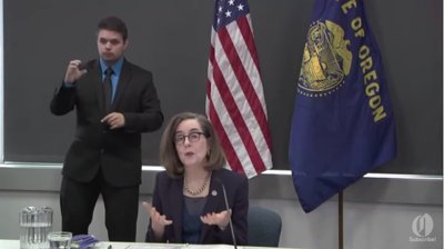 Gov. Kate Brown gives press conference Thursday