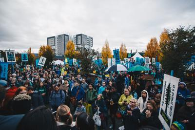 Podcast: Eugene students and community members march to support plaintiffs in climate change lawsuit