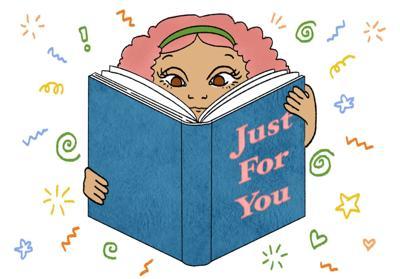Book recommendation illustration
