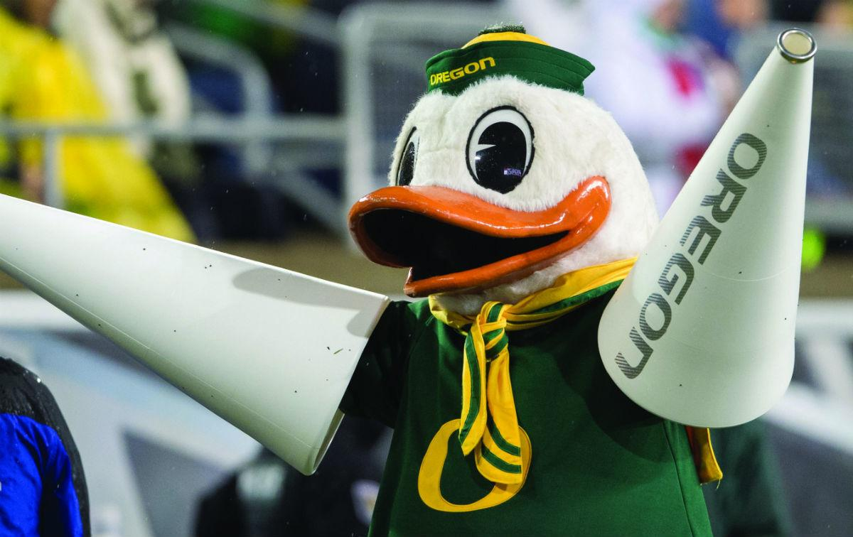 Fire, Fights and Feathers: An inside look at the Oregon Duck mascot