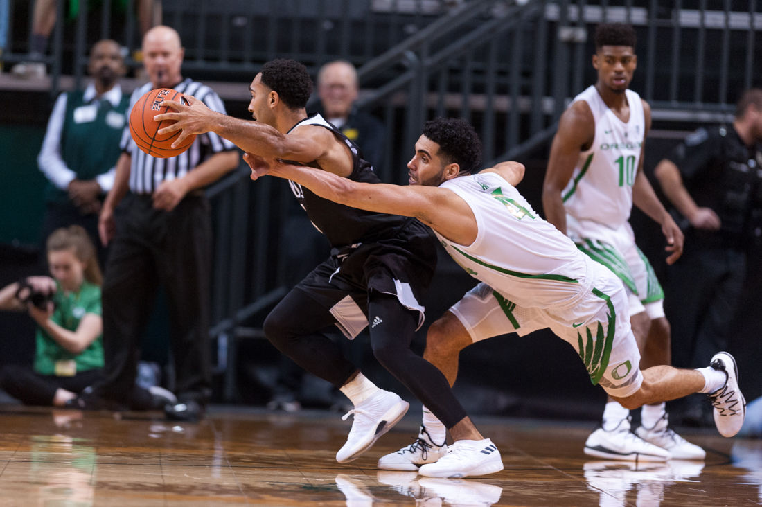 Photos: University of Oregon Basketball battles Western Oregon for a 77-58 victory