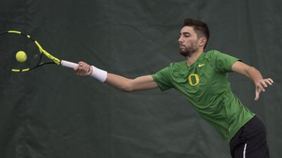Oregon men's tennis open spring season with dominant performance against Montana State