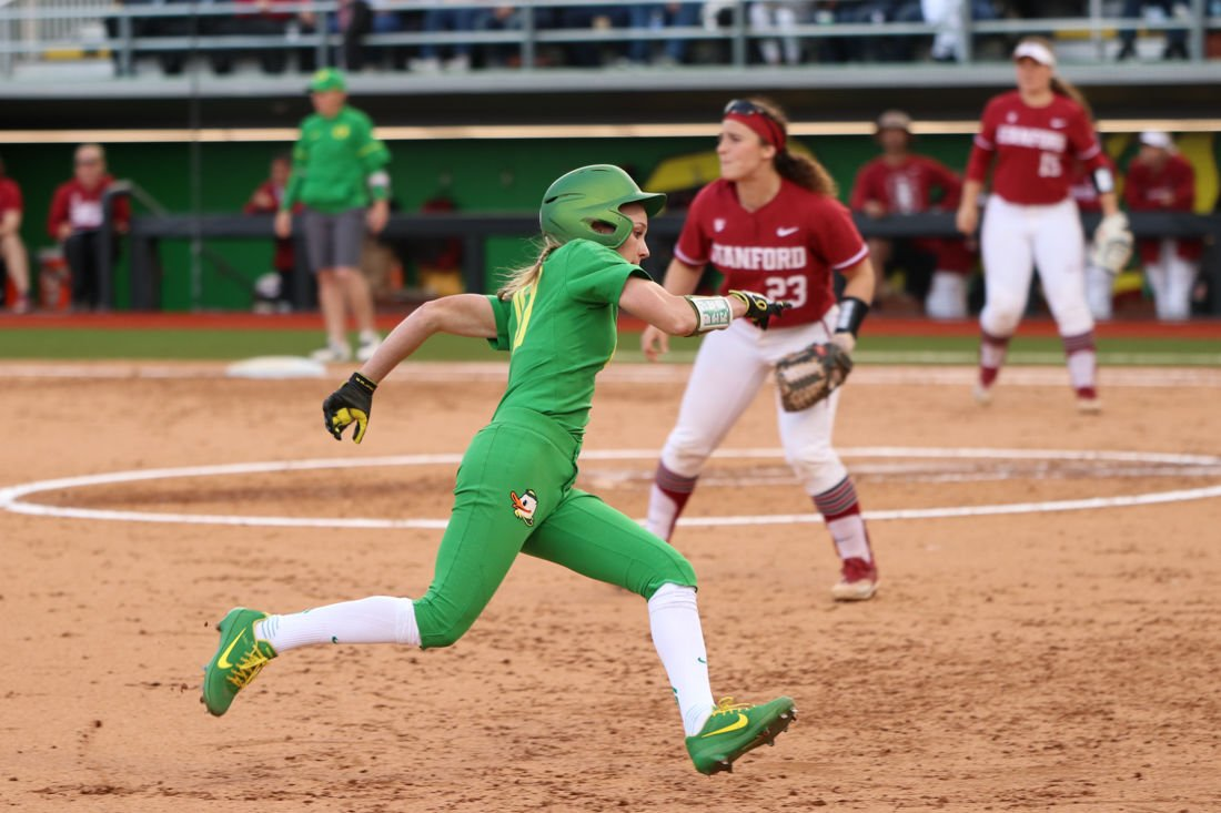 Photos: Oregon Softball Defeats Stanford Cardinals 8-4