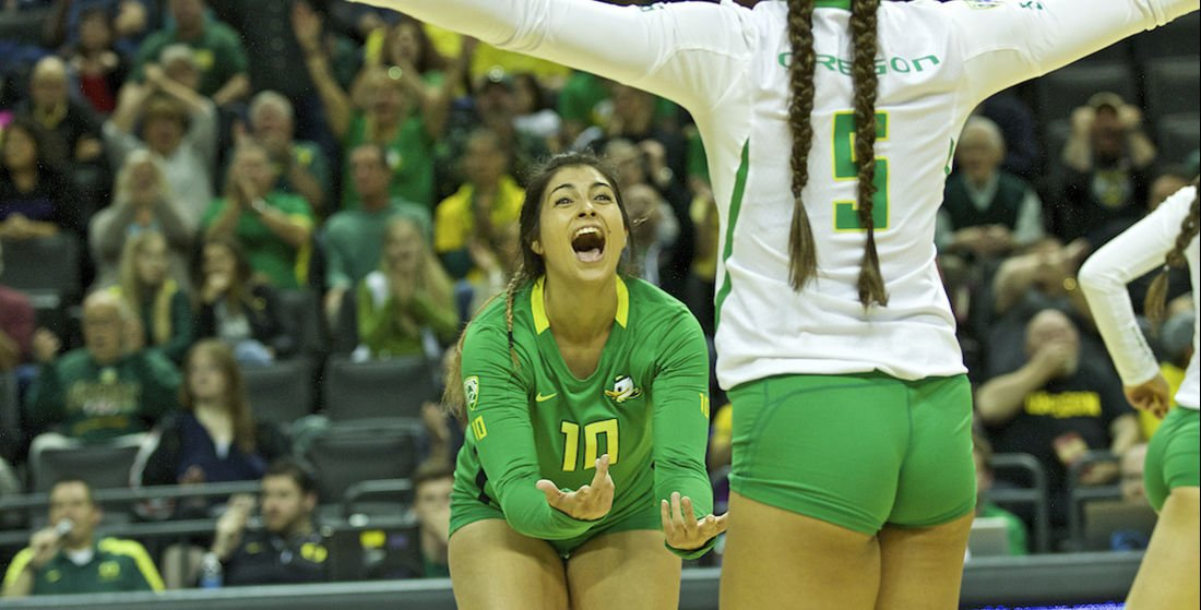 Photos: Oregon volleyball falls to Washington