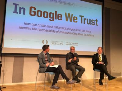 Google VP of news talks technological responsibility at 2018 Ruhl lecture