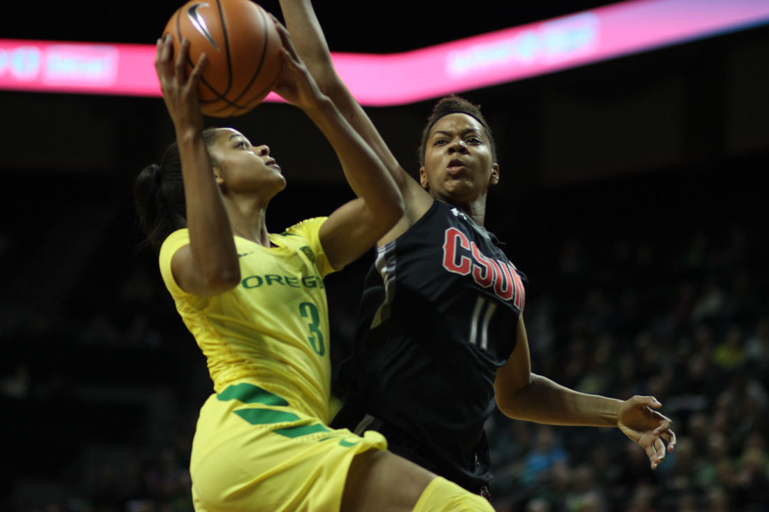 Photos: Ducks soar to victory in preseason game against CSUN (91-43)