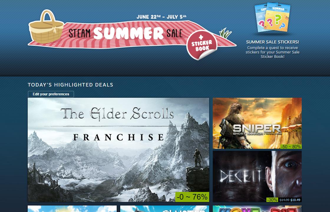 Gaming Week In Review: Steam Summer Sale, 'Diablo 3' Necromancer class, 'Ark' release date