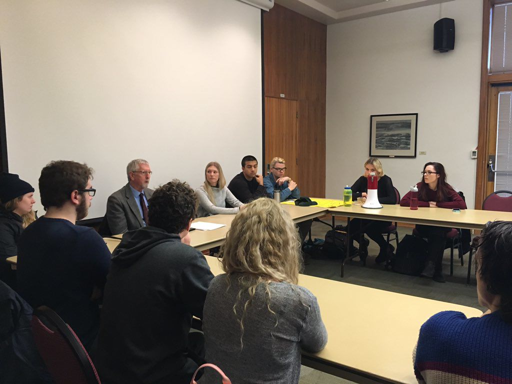Students rally against proposed tuition hike in forum